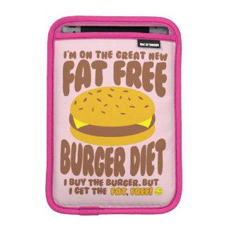 Dieta livre de gordura do hamburguer capas para iPad mini