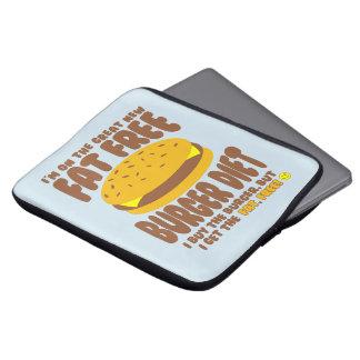 Dieta livre de gordura do hamburguer capas para laptop