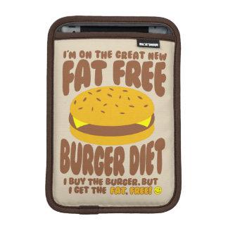 Dieta livre de gordura do hamburguer luvas de iPad mini