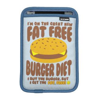 Dieta livre de gordura do hamburguer luvas iPad mini