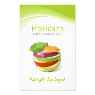 Dietista nutricionista aviador pessoal do instruto panfleto coloridos