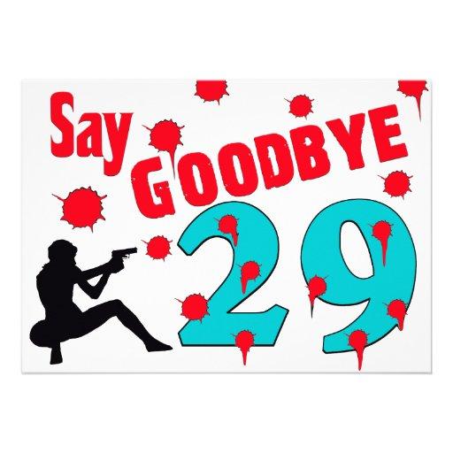 Diga adeus à celebração do aniversário de 30 anos  convite personalizados