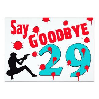 Diga adeus à celebração do aniversário de 30 anos convite 12.7 x 17.78cm