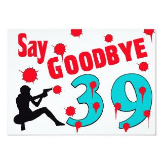 Diga adeus à celebração do aniversário de 40 anos convite 12.7 x 17.78cm