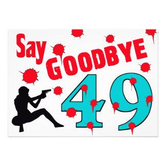 Diga adeus celebração do aniversário de 49 A à 50t