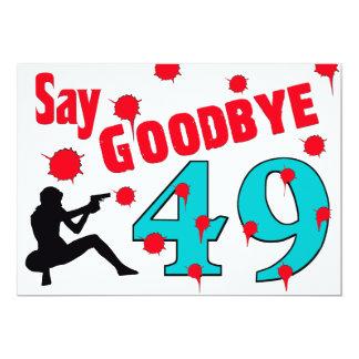Diga adeus celebração do aniversário de 49 A à Convite 12.7 X 17.78cm
