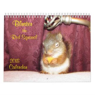 Diga fanfarronadas o calendário do esquilo