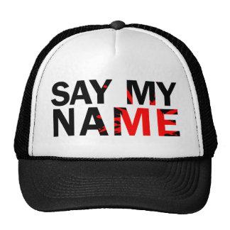 Diga meu nome bone