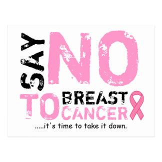 diga não ao cartão do cancro da mama