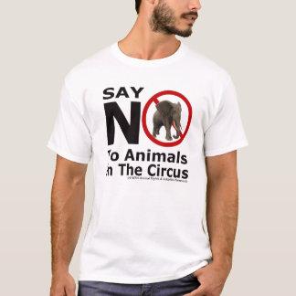 Diga não aos animais na camisa do elefante do