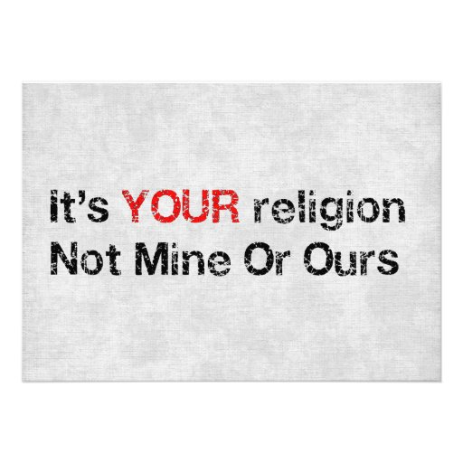 Diga não aos cultos do deus convites personalizado
