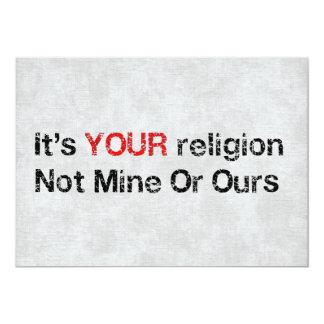 Diga não aos cultos do deus convite 12.7 x 17.78cm