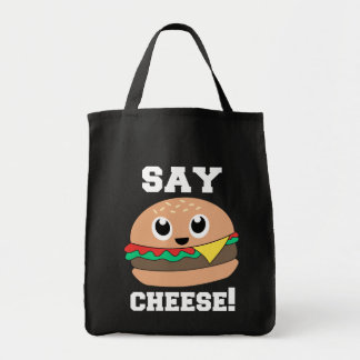 Diga o queijo! Saco de bolsas bonito do hamburguer