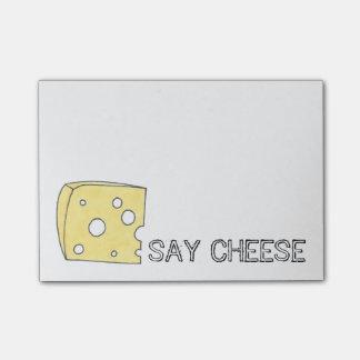 Diga post-it de Foodie do queijo suíço do queijo Post-it Notes