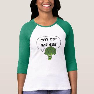 diga qualquer coisa camisa irritada dos brócolos