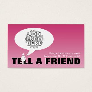 diga uma referência do amigo cómica cartão de visitas