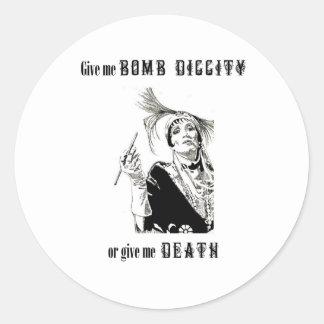 Diggity ou morte da bomba adesivo