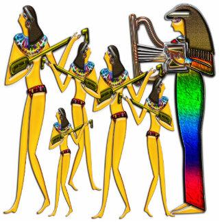 Digital pintada Scu adiantado da foto do egípcio Escultura Fotos