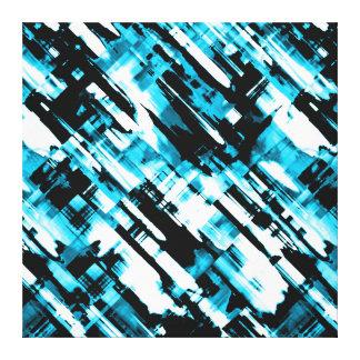 Digitalart abstrato azul das canvas e preto quente
