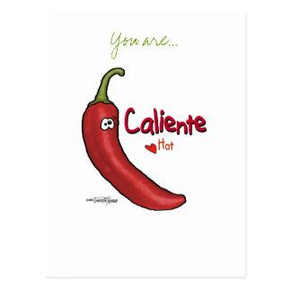 Digno de nota de Caliente - cartão dos namorados