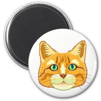Dijon o ímã do gato ímã redondo 5.08cm