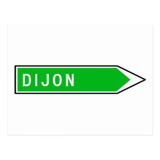 Dijon, sinal de estrada, France Cartão Postal