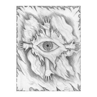 Dimensão 4 impressão em tela canvas