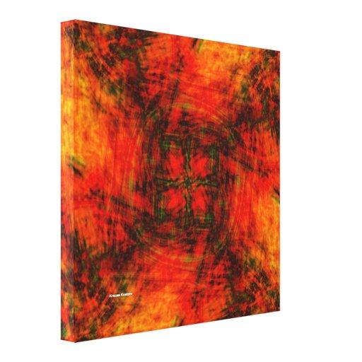 Dimensão ao inferno impressão em canvas