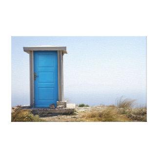 Dimensão azul impressão em tela canvas
