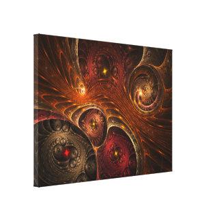 Dimensões entrelaçadas impressão de canvas esticadas