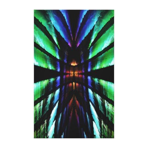 Dimensões internas impressão de canvas esticada