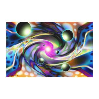 Dimensões psicadélicos - arte abstracta impressão em tela