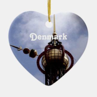 Dinamarca Ornamento De Cerâmica Coração