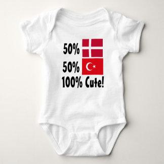 Dinamarquês 100% do turco 50% de 50% bonito body para bebê