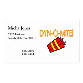 Dinamite de Dynomite Cartões De Visita