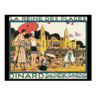 Dinard o viagem novo de Casino_Vintage Cartão Postal