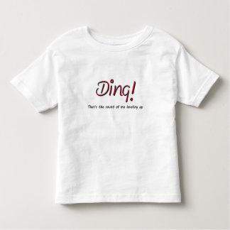 Ding! Camisa do aniversário da criança