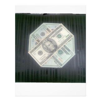 Dinheiro carregar panfleto