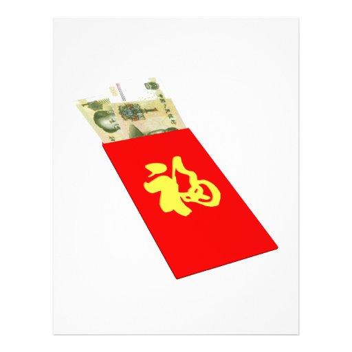 Dinheiro chinês panfleto