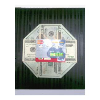 Dinheiro crédito modelos de panfleto