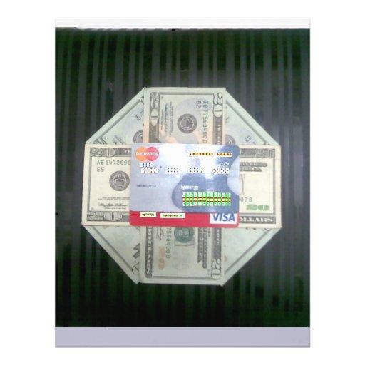 Dinheiro & crédito modelos de panfleto