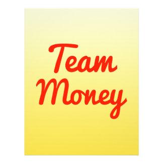 Dinheiro da equipe panfleto
