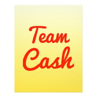 Dinheiro da equipe panfletos personalizado
