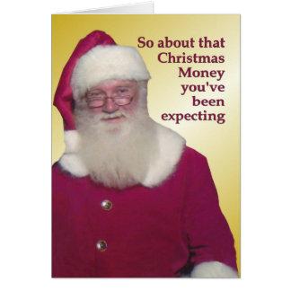 Dinheiro do Natal nao fechado Cartão