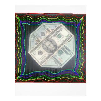 Dinheiro em cores vivas modelos de panfleto