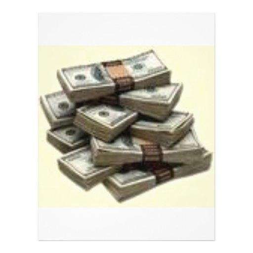 dinheiro panfletos coloridos