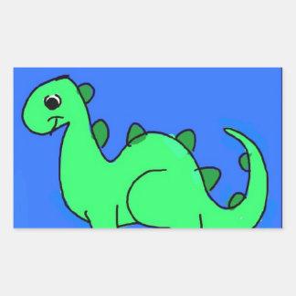 Dino Autocolante Em Forma Retangular