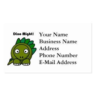 Dino pôde esverdear desenhos animados do cartão de visita