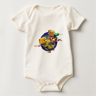 Dinos com Rayguns! Body Para Bebê