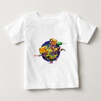 Dinos com Rayguns! Camiseta Para Bebê
